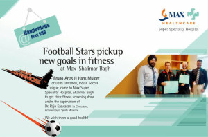 Bruno Arias & Hans Mulder of Delhi Dynamos, Indian soccer league with Dr. Raju Easwaran